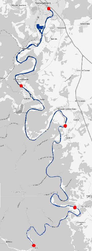 Маршрут сплава на плоту по реке 3 дня